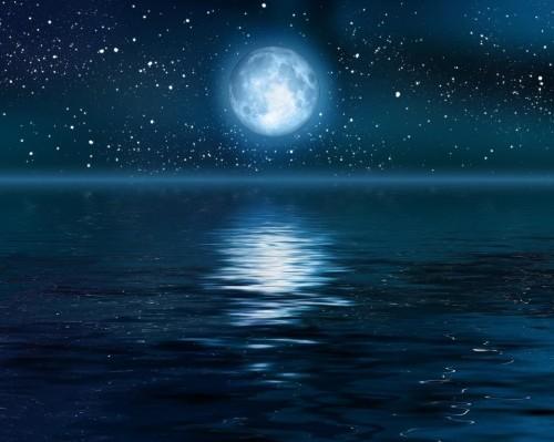 moon on water